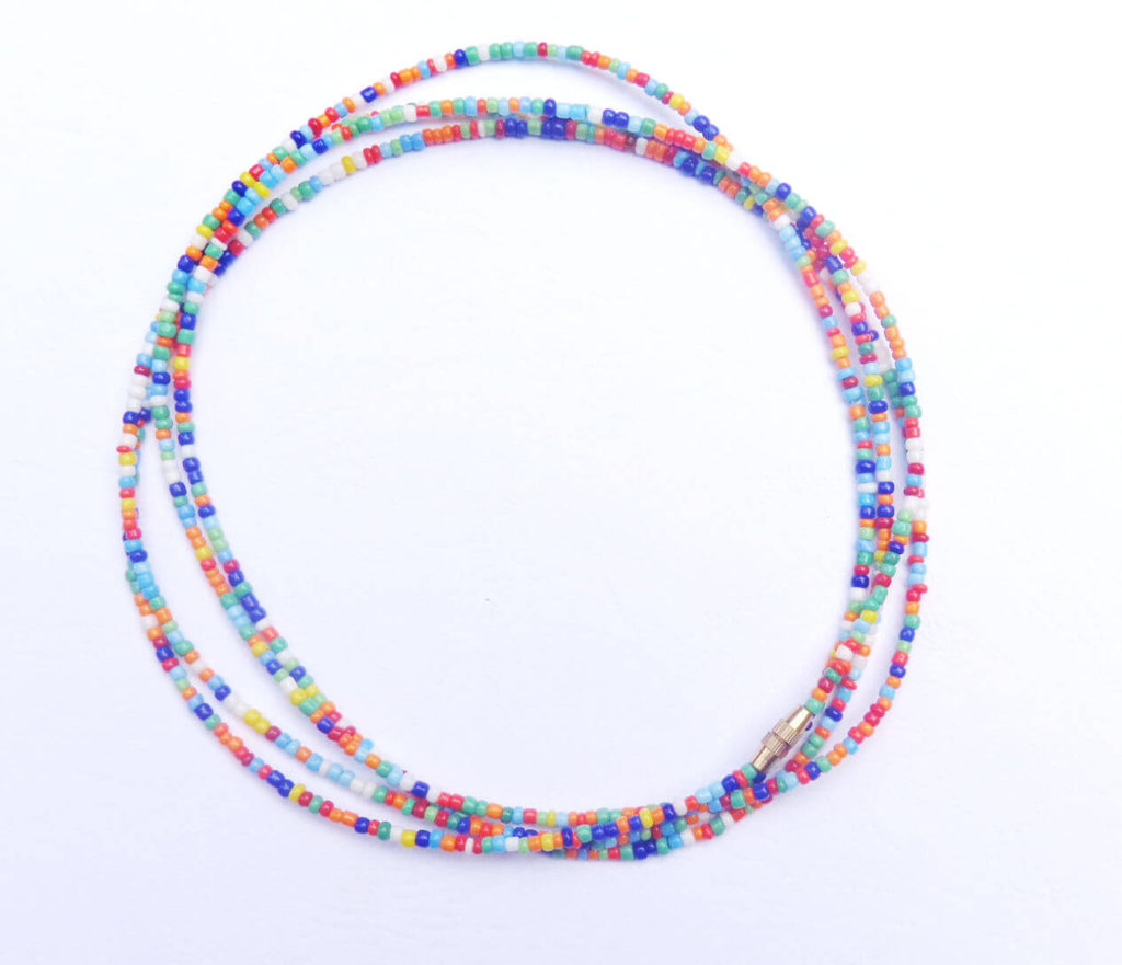 Glass beads Yellow Mermaid Mashup Toma Beads African Beads African Waist Beads 43 : Seed Beads