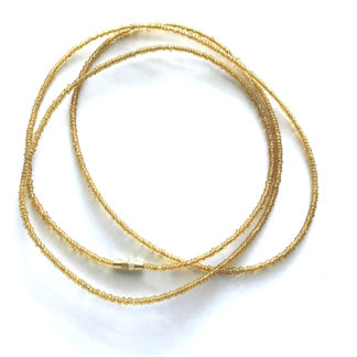 Transparent Gold Waist Beads