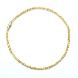 transparent gold anklet