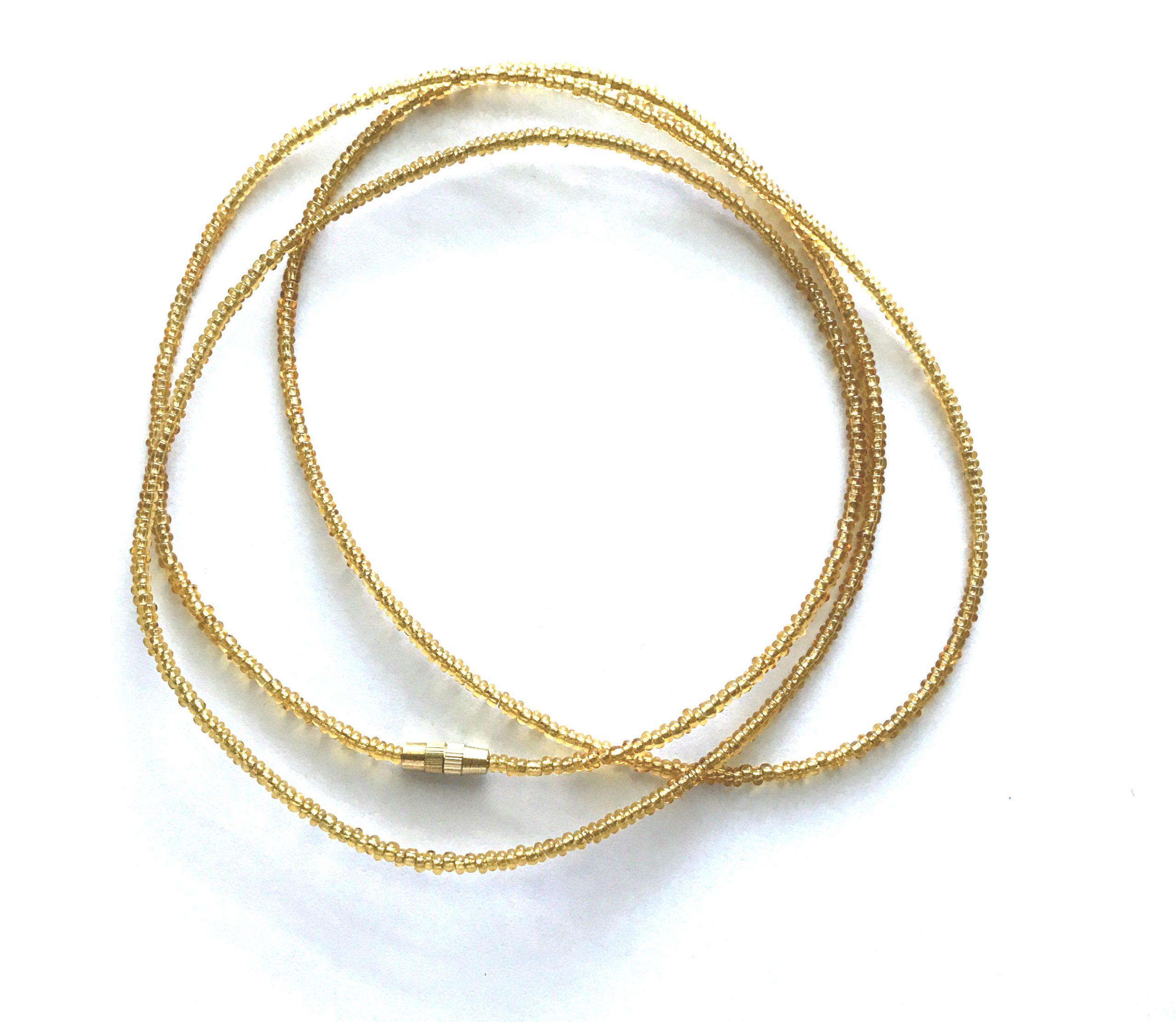 Transparent Gold Waist Beads