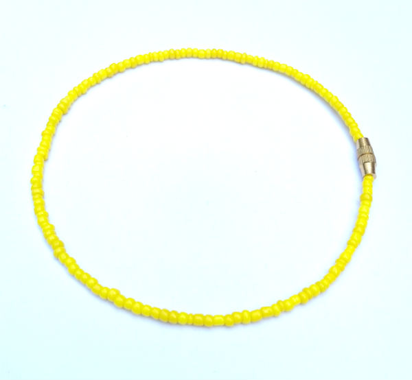 yellow anklet