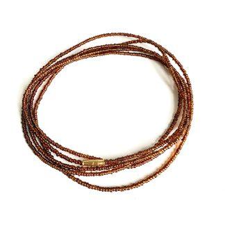 Luminous brown waist beads