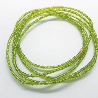 Luminous lime green waist beads